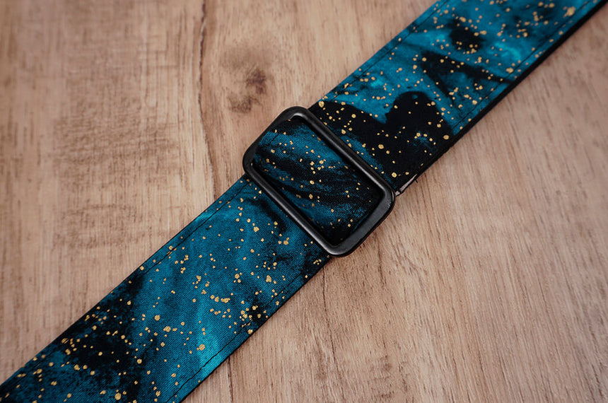 universe space ukulele shoulder strap with leather ends-7