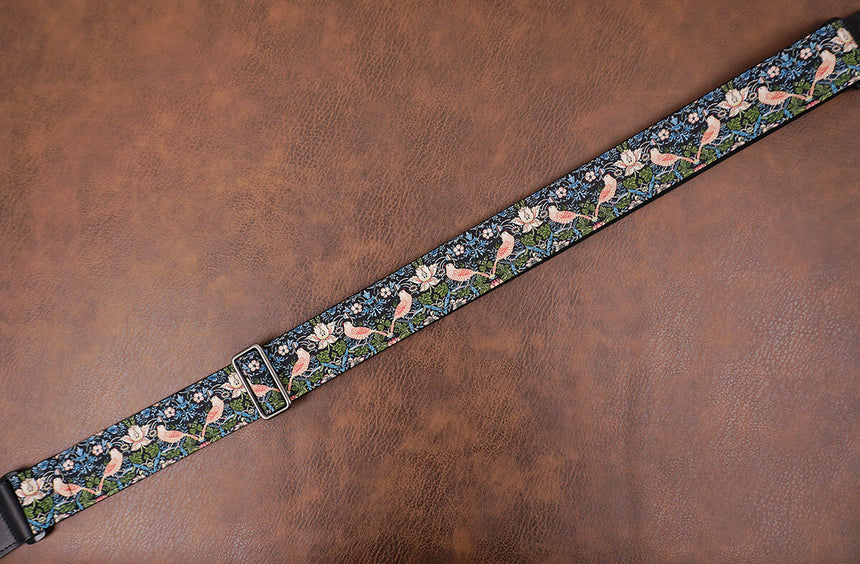 vintage bird banjo strap with hook-6