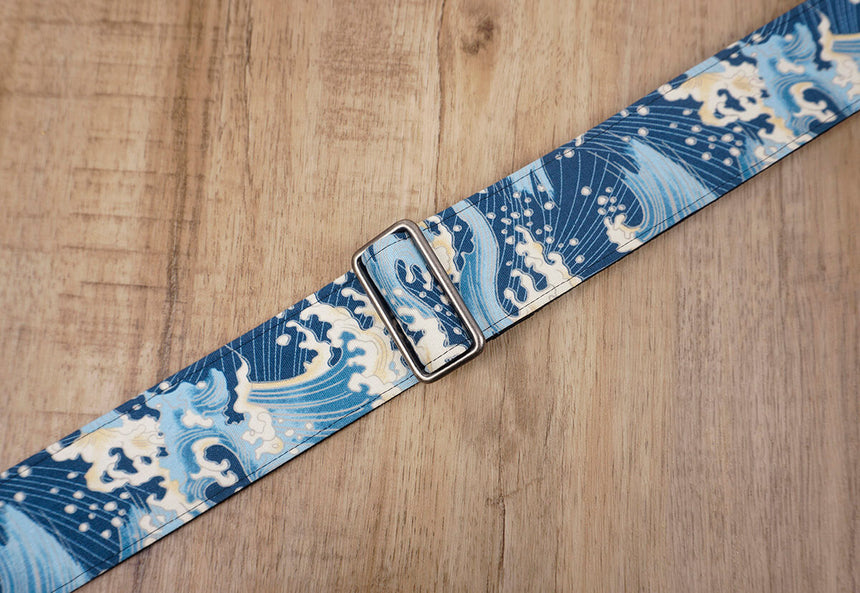 waves guitar strap with leather ends-6