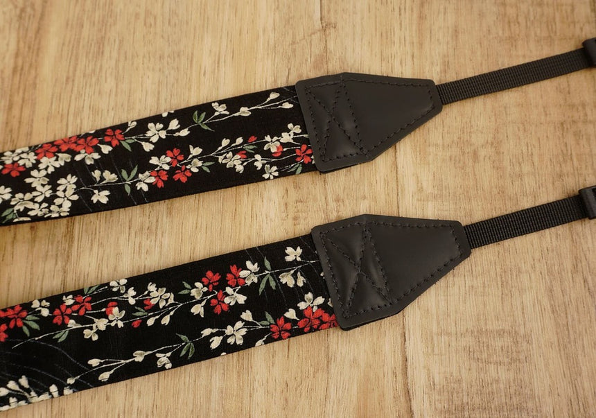 weeping cherry blossom printed floral camera strap-6
