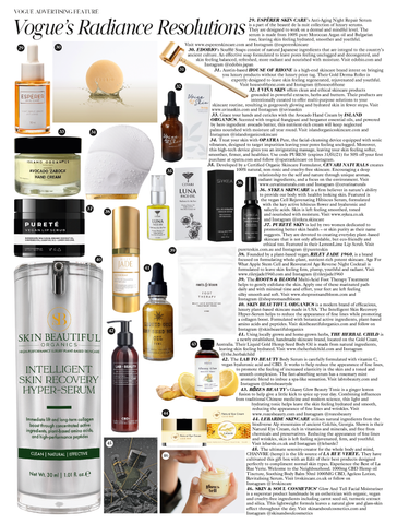 VOGUE CEVARI NATURALS Feature January 2021 Issue Radiance Resolutions