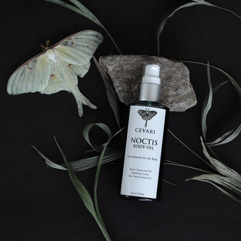 Noctis Body Oil with Luna Moth