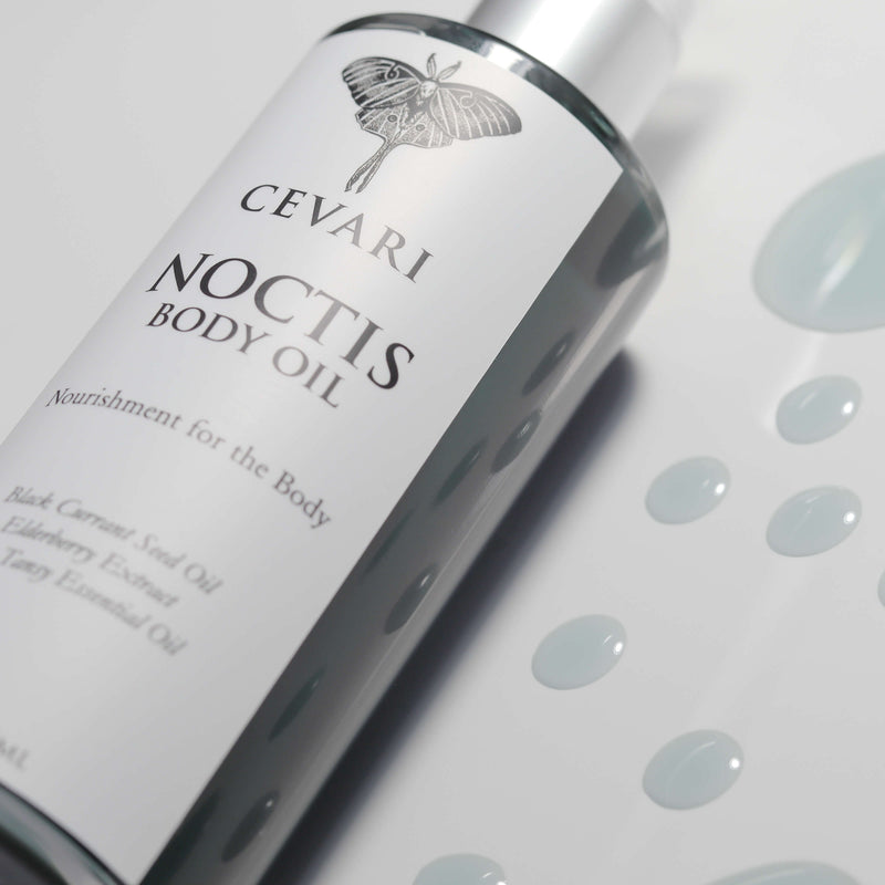 Noctis Body Oil Bottle And Drops