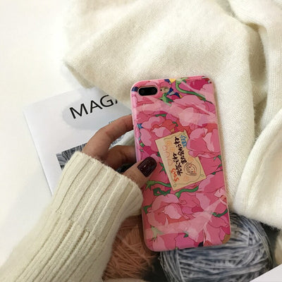 Coque iPhone - Floral