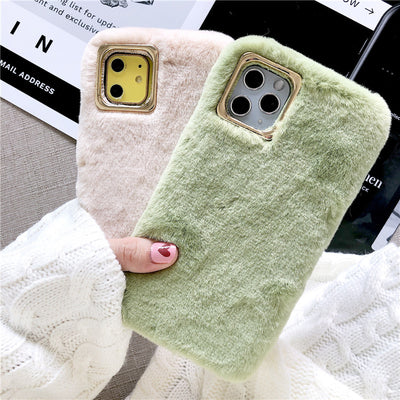 Coque iPhone à Fourrure