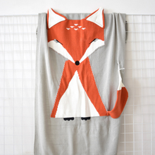 Load image into Gallery viewer, Fox Baby Blanket