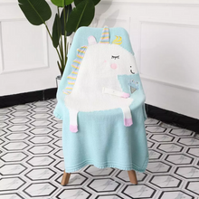 Load image into Gallery viewer, Knitted Unicorn Blanket