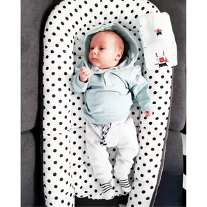 Black Dots Baby Lounger