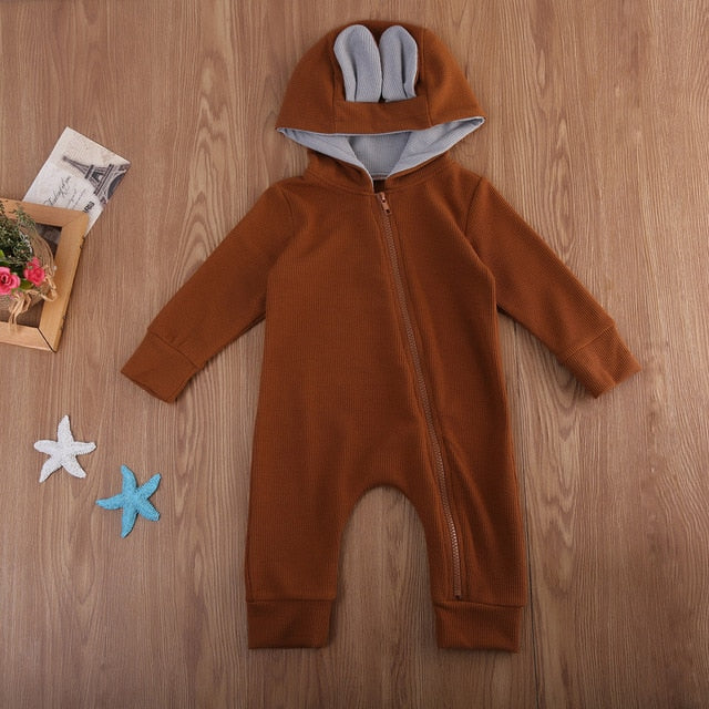 Zipper Deer Jumpsuit