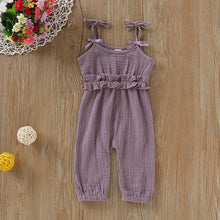 Load image into Gallery viewer, Baby Girl Sleeveless Bow-Knot Jumpsuits