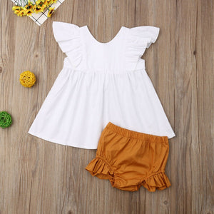Baby Girl White Ruffle Dress