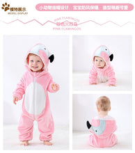 Load image into Gallery viewer, Pink Parrot Baby Onesie