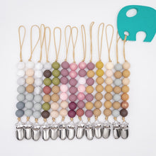 Load image into Gallery viewer, Beaded Wooden Pacifiers Clip