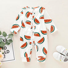 Load image into Gallery viewer, Watermelon Jumpsuit Pajamas
