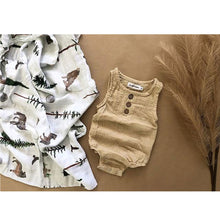 Load image into Gallery viewer, Linen Baby Romper