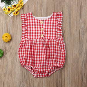 Ruffle Checkers Sunsuit