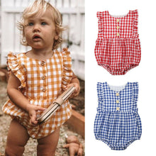Load image into Gallery viewer, Ruffle Checkers Sunsuit