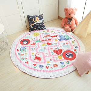 Cartoon foldable Soft Rugs & Toy Storage