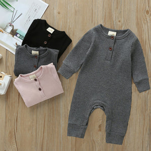 Knitted Cotton Ribbed Romper