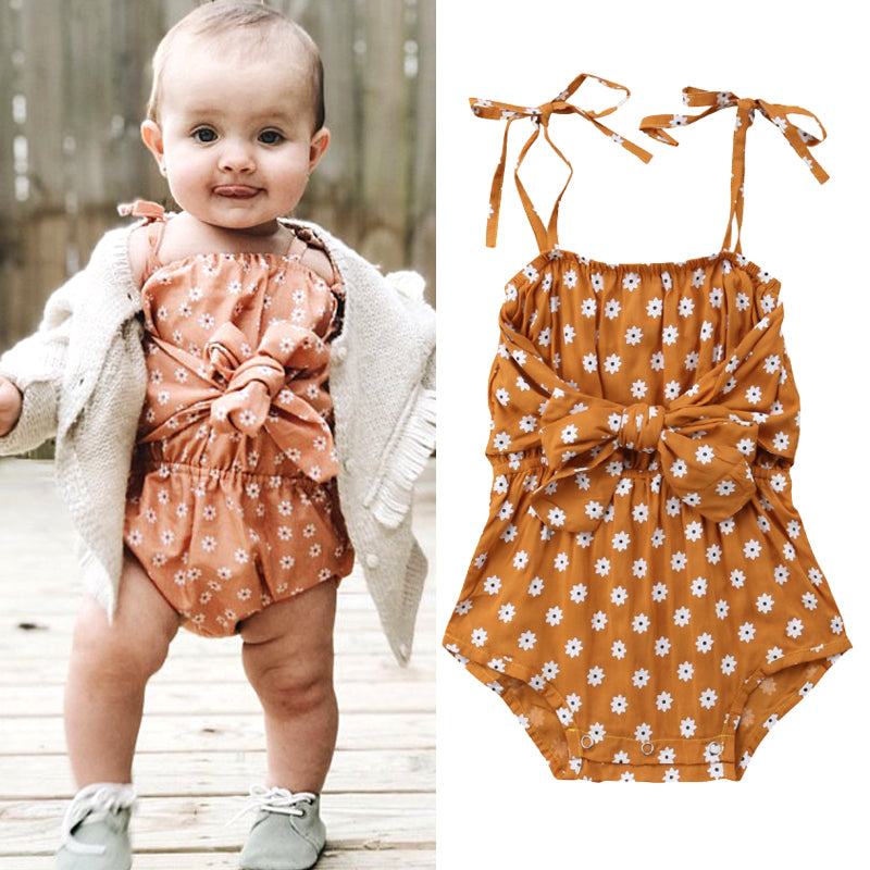 Flowers Shoulder Strap Romper
