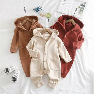 Hooded Button Romper