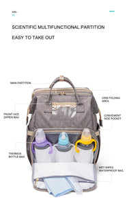 Diaper Bag with Portable Crib and changing station
