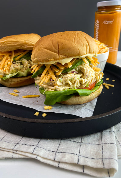 Pulled Peruvian Chicken Sandwich in Less Than 25 Minutes