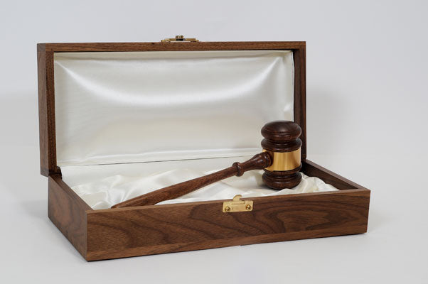 "Leader Presentation Set - 10-1/2"" American Walnut Gavel"