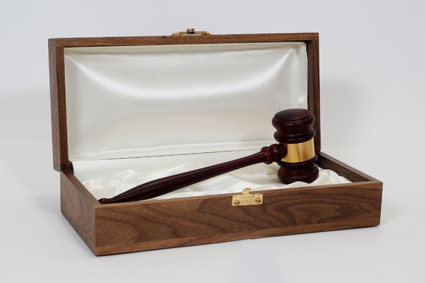 "Leader Presentation Set - 11"" Judges American Rosewood Gavel"