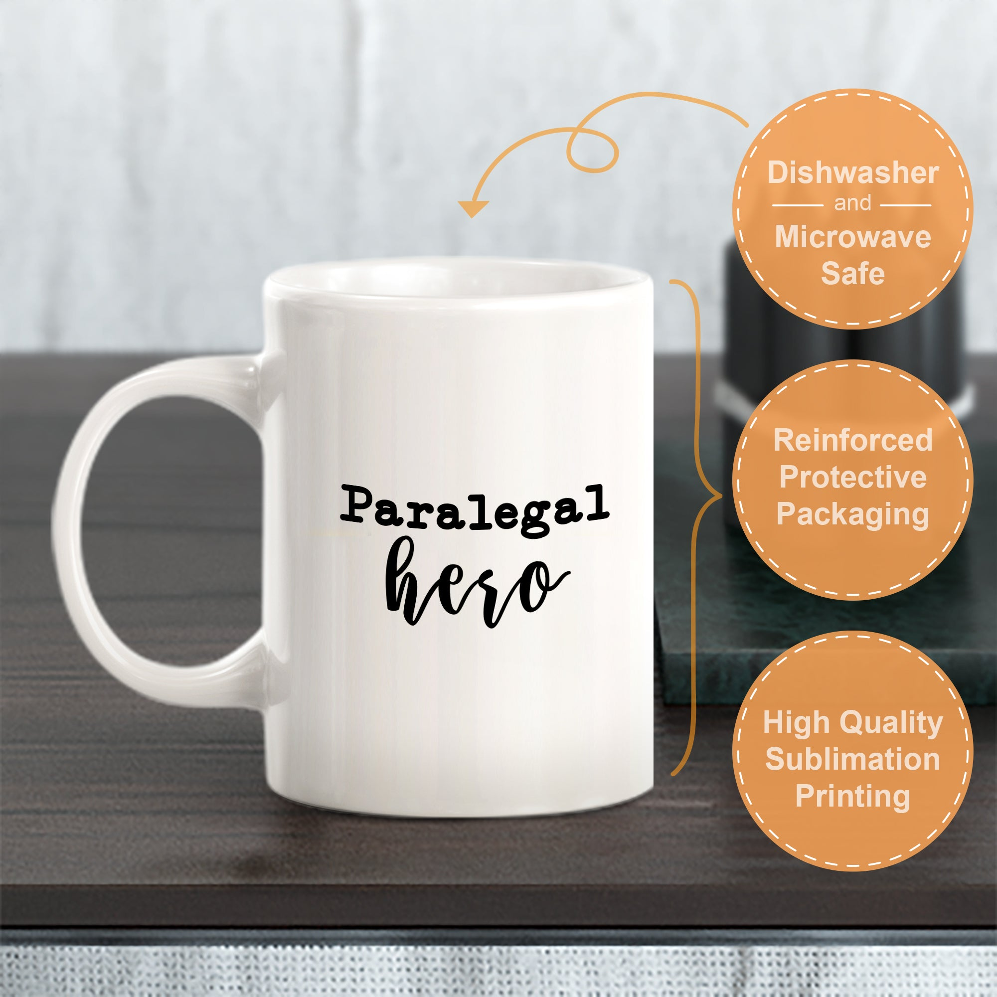 Paralegal Hero Cursive Coffee Mug