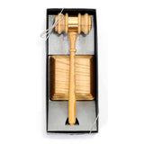 "Director Presentation Set - 10-1/2"" Oak Style Gavel"