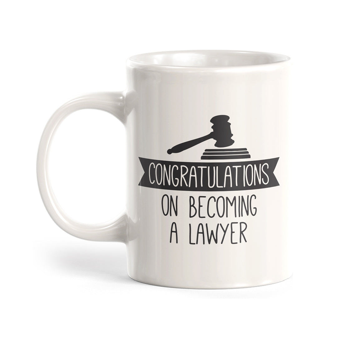 Congratulations on Becoming a Lawyer Coffee Mug