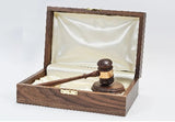 "Royal Presentation Set - 10-1/2"" American Walnut Gavel Set Media 1 of 2"