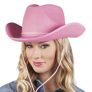Hoed rodeo dames one size roze