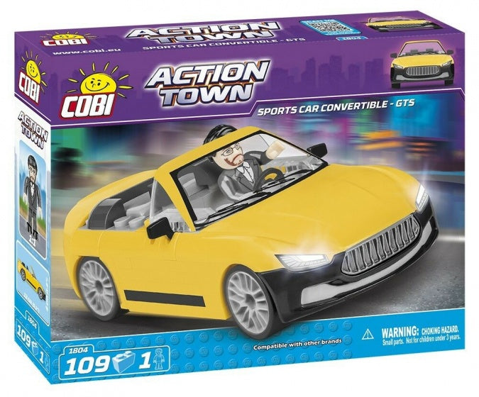 Action town bouwpakket sports car convertible - gts 109-delig 1804