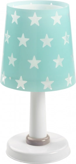 Tafellamp stars glow in the dark 30 cm turquoise