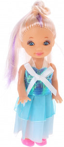 Pop mode-prinses strik 10,5 cm blauw