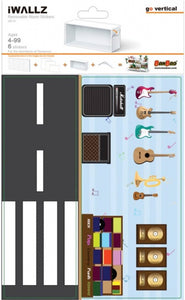 Decoratiestickers music store 6-delig