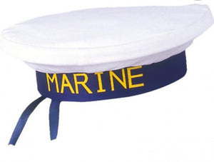 Marinepet heren wit