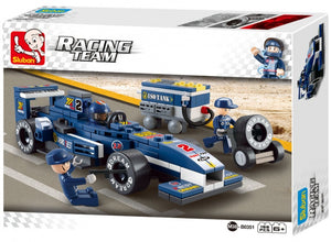 Racing team: racewagen blauw (m38-b0351)
