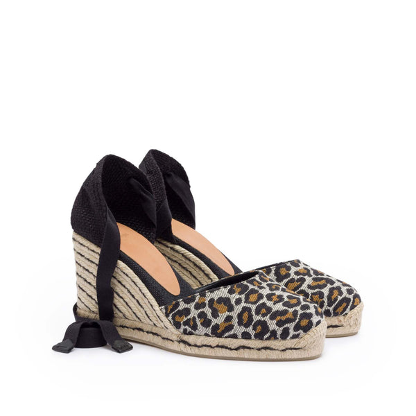 hoity-toity-shoes - Carina Animal Print Espadrille - Castañer - High Heel,Espadrille,Mid Heel,Wedge,Strappy Sandal