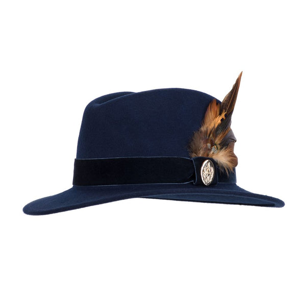The Chelsworth Fedora Hat in Navy