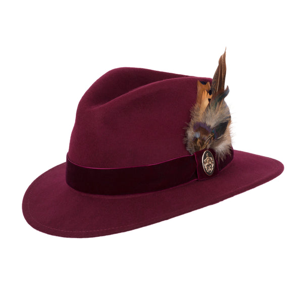 hoity-toity-shoes - The Chelsworth Fedora Hat in Maroon - Hicks & Brown - Hat