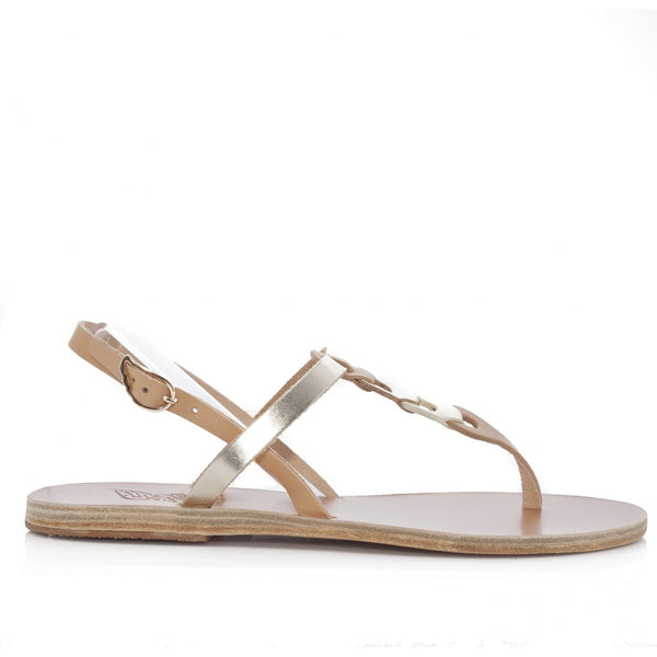 Lito-Links-flat sandal-in-natural-leather