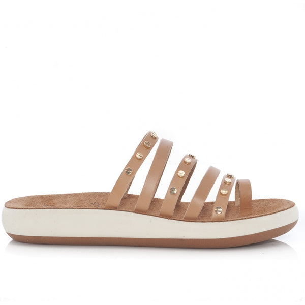 Niki-nails-comfort-strappy-flat-sandal-in-leather