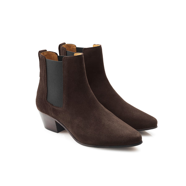 hoity-toity-shoes - Athena (Brown) Ankle Boot - Fairfax & Favor - Boots