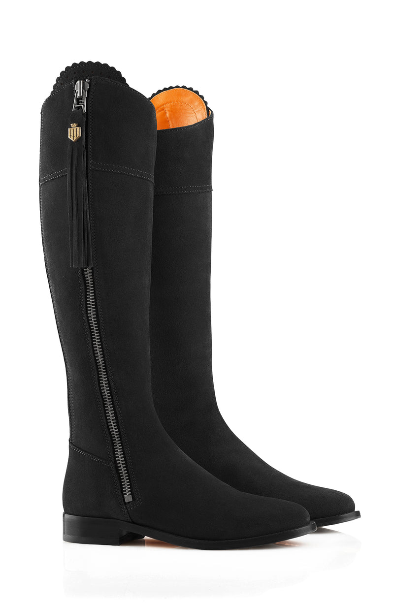 hoity-toity-shoes - Regina (Black) Suede Boot - Fairfax & Favor - Boots