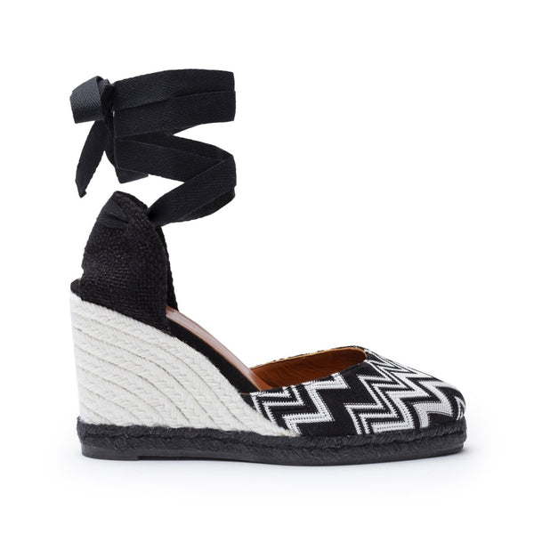 hoity-toity-shoes - Carina Missoni wedge espadrille - Castañer - Espadrille,Mid Heel,Wedge,Strappy Sandal