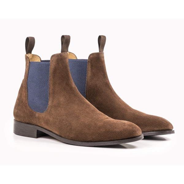The Individual Mens Chelsea Boot in Chocolate Suede