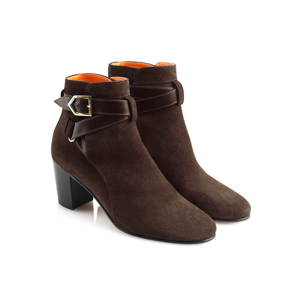 hoity-toity-shoes - Kensington Chocolate Suede Ankle Boot - Fairfax & Favor - Boots > Ankle Boots,Boots